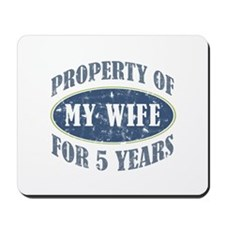 Funny 5th Anniversary Mousepad