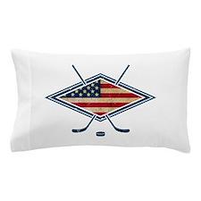 USA Hockey Flag Logo Pillow Case