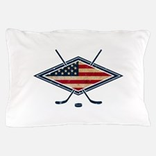 USA Hockey Flag Logo Pillow Case