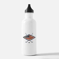 USA Hockey Flag Logo Water Bottle