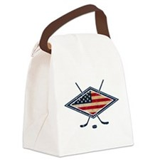 USA Hockey Flag Logo Canvas Lunch Bag
