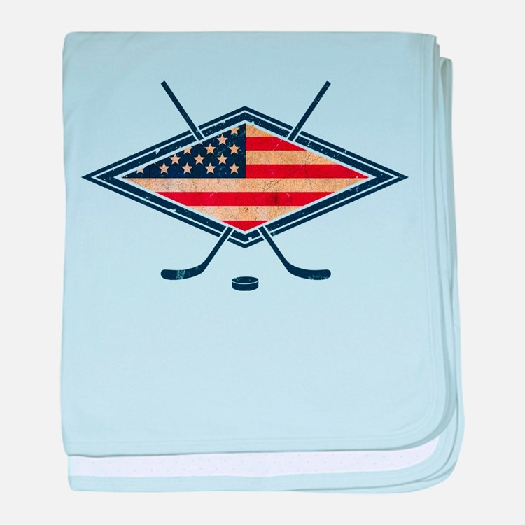 USA Hockey Flag Logo baby blanket