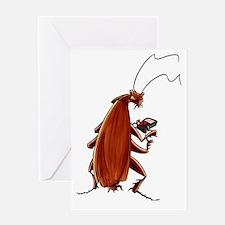 Nuclear button roach Greeting Card