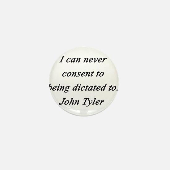 Tyler - Never Consent Mini Button