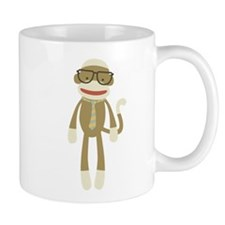 Sock monkey with Glasses Mug