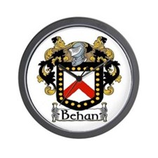 Behan Coat of Arms Wall Clock