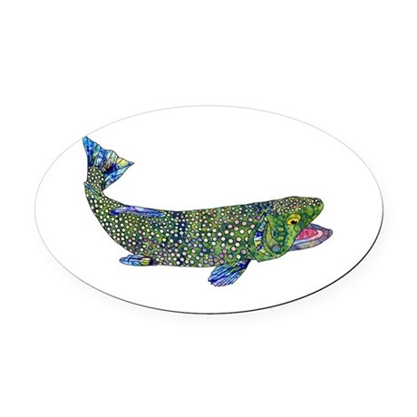 Wild Trout Oval Car Magnet