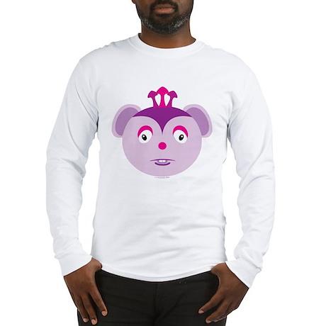Three-Horned Purple Monster Long Sleeve T-Shirt