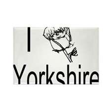 I Love Yorkshire Rectangle Magnet