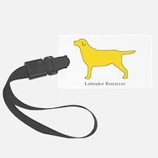 Yellow Labrador Retriever Luggage Tag