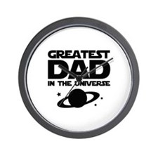 Greatest Dad In The Universe Wall Clock