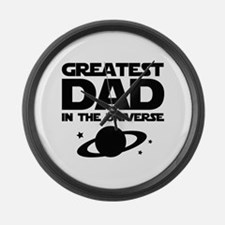 Greatest Dad In The Universe Large Wall Clock