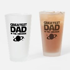 Greatest Dad In The Universe Drinking Glass