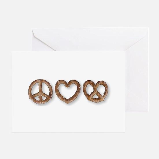 Peace Love Pretzel Greeting Card