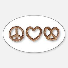 Peace Love Pretzel Decal
