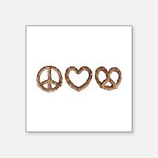 Peace Love Pretzel Sticker