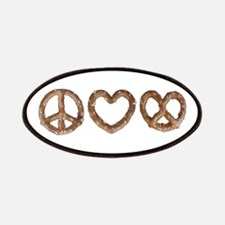 Peace Love Pretzel Patches