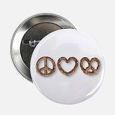 "Peace Love Pretzel 2.25"" Button"