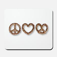 Peace Love Pretzel Mousepad