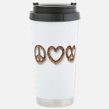 Peace Love Pretzel Travel Mug