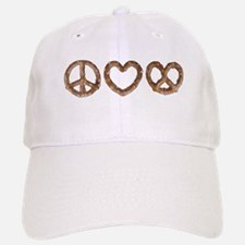Peace Love Pretzel Baseball Baseball Baseball Cap