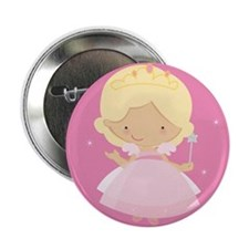 """Princess In Pink 2.25"""" Button"""