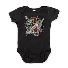 Burnett Tartan Lion Baby Bodysuit