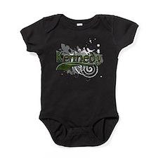 Kennedy Tartan Grunge Baby Bodysuit