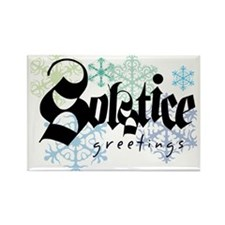 Solstice Greetings Rectangle Magnet