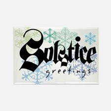 Solstice Greetings Rectangle Magnet (100 pack)