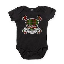 MaguireTartanSkullP.png Baby Bodysuit
