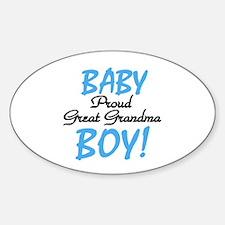 Baby Boy Great Grandma Oval Decal