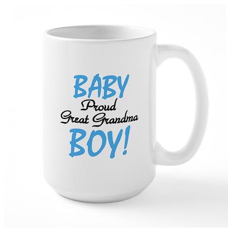 Baby Boy Great Grandma Large Mug