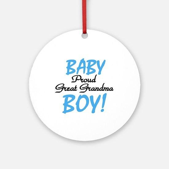 Baby Boy Great Grandma Ornament (Round)