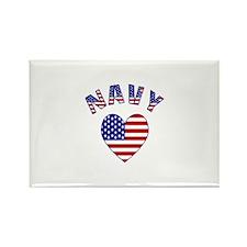 US Navy Heart Rectangle Magnet