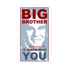 Big Brother (Bush) Listening Rectangle Decal