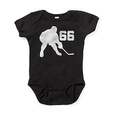 Hockey Player Number 66 Baby Bodysuit