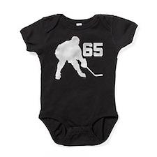 Hockey Player Number 65 Baby Bodysuit