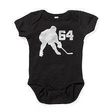 Hockey Player Number 64 Baby Bodysuit