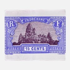 Antique 1927 Cambodia Angkor Wat Postage Stamp Thr