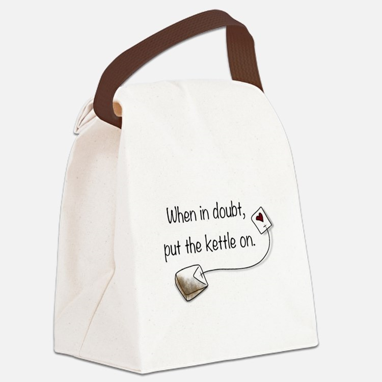 When in doubt, put the kettle on. Canvas Lunch Bag