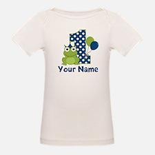 1st Birthday Frog Blue T-Shirt