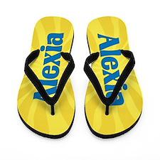 Alexia Sunburst Flip Flops