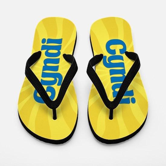 Cyndi Sunburst Flip Flops