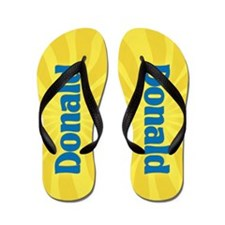 Donald Sunburst Flip Flops