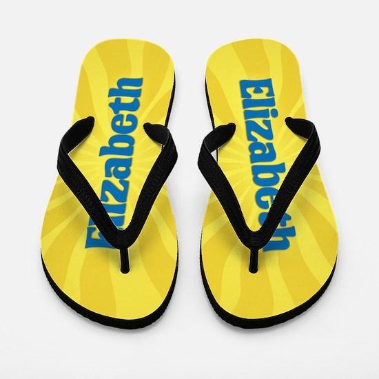 Elizabeth Sunburst Flip Flops