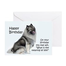 Keeshond Birthday Card