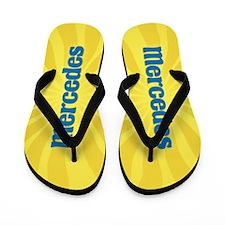Mercedes Sunburst Flip Flops