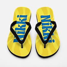 Nikki Sunburst Flip Flops