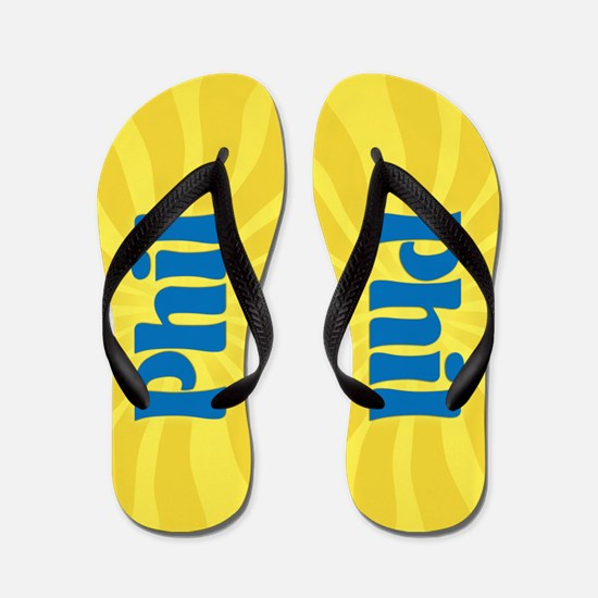 Phil Sunburst Flip Flops